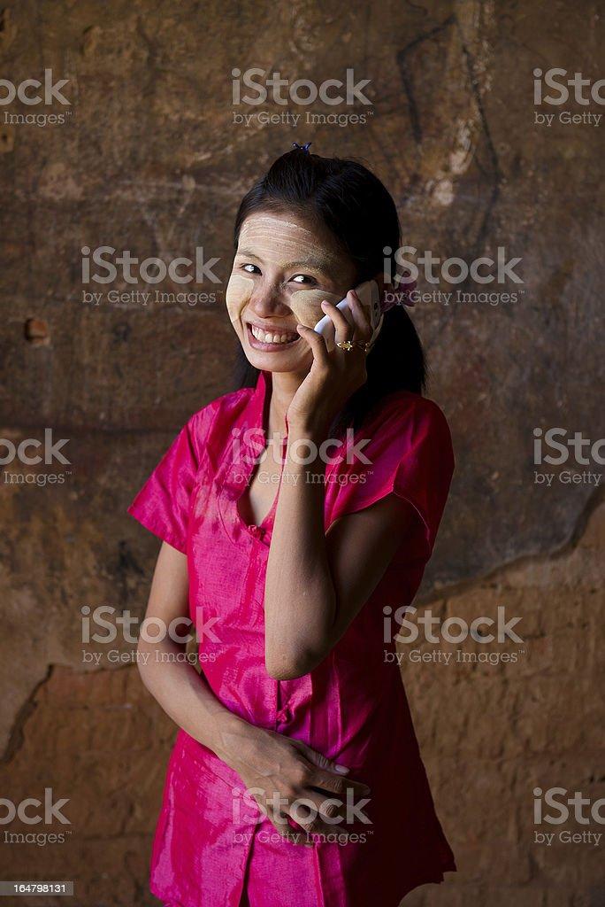 close up myanmar girl royalty-free stock photo
