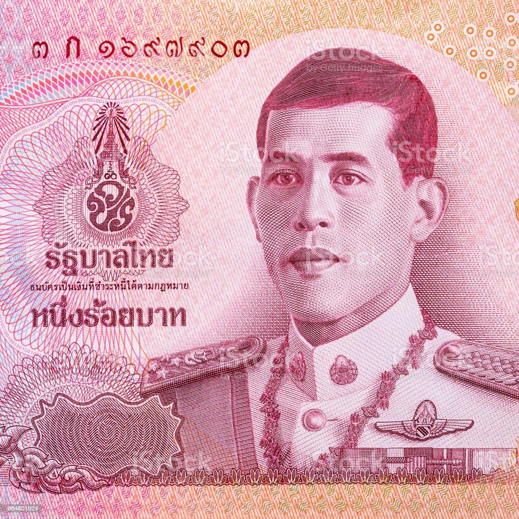 Close up of 100 Thai baht banknote. royalty-free stock photo