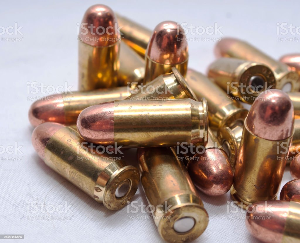 A close-up de balas,45 ACP - foto de acervo