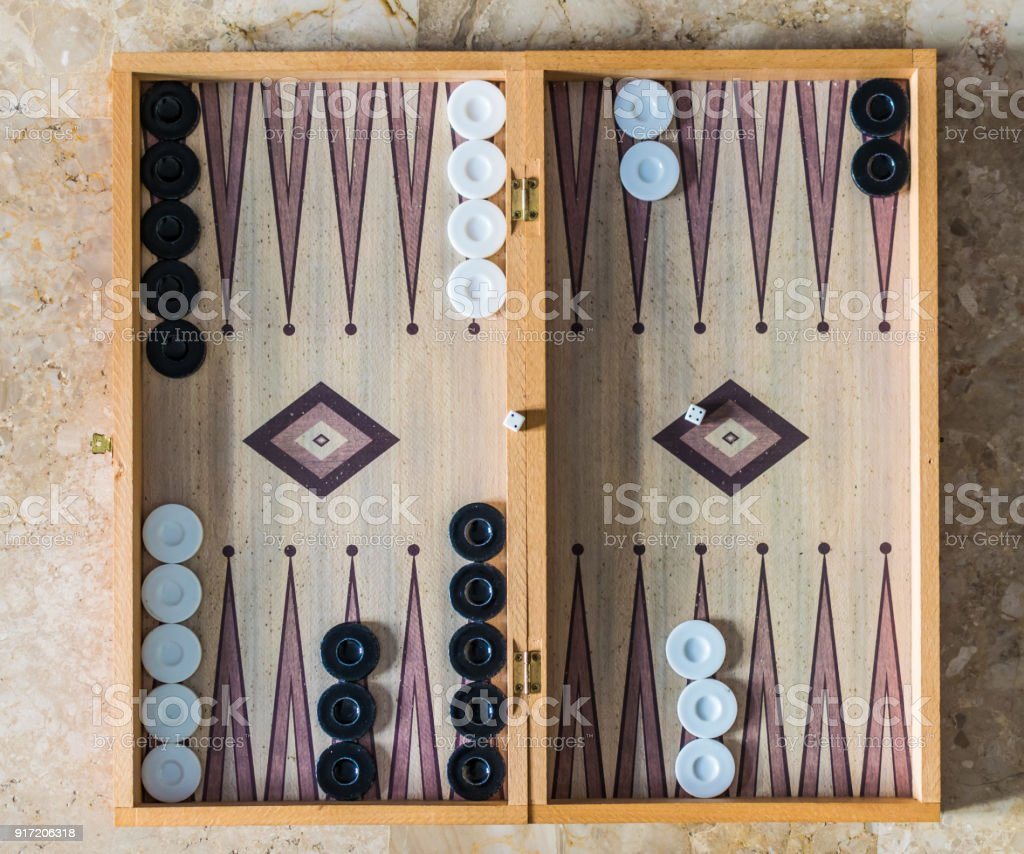 Close up of a backgammon play stock photo