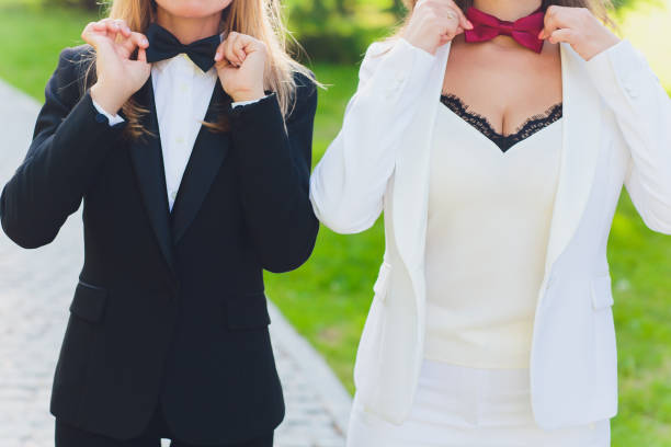 Nahaufnahme eines schönen lesbischen Paares. Homo-Ehe-Konzept. – Foto