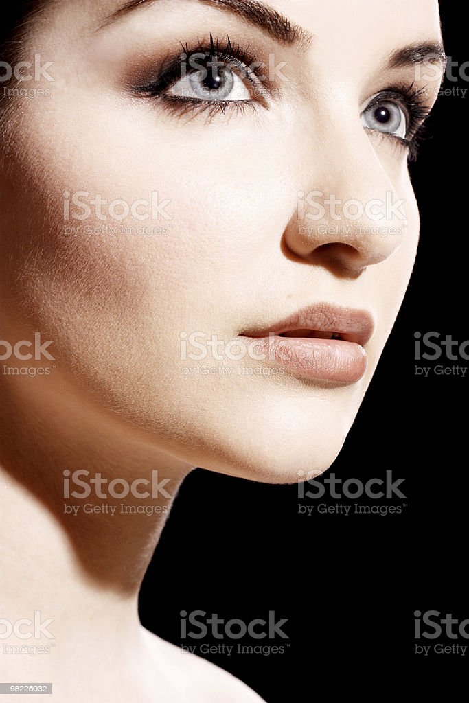 Close up of a beautiful woman royalty-free stock photo