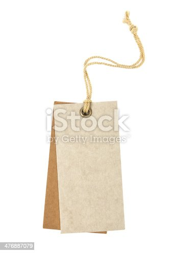 istock close up of a blank price label on white background 476887079