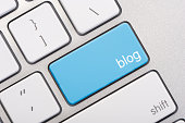 istock Close up of a blog key 184948373