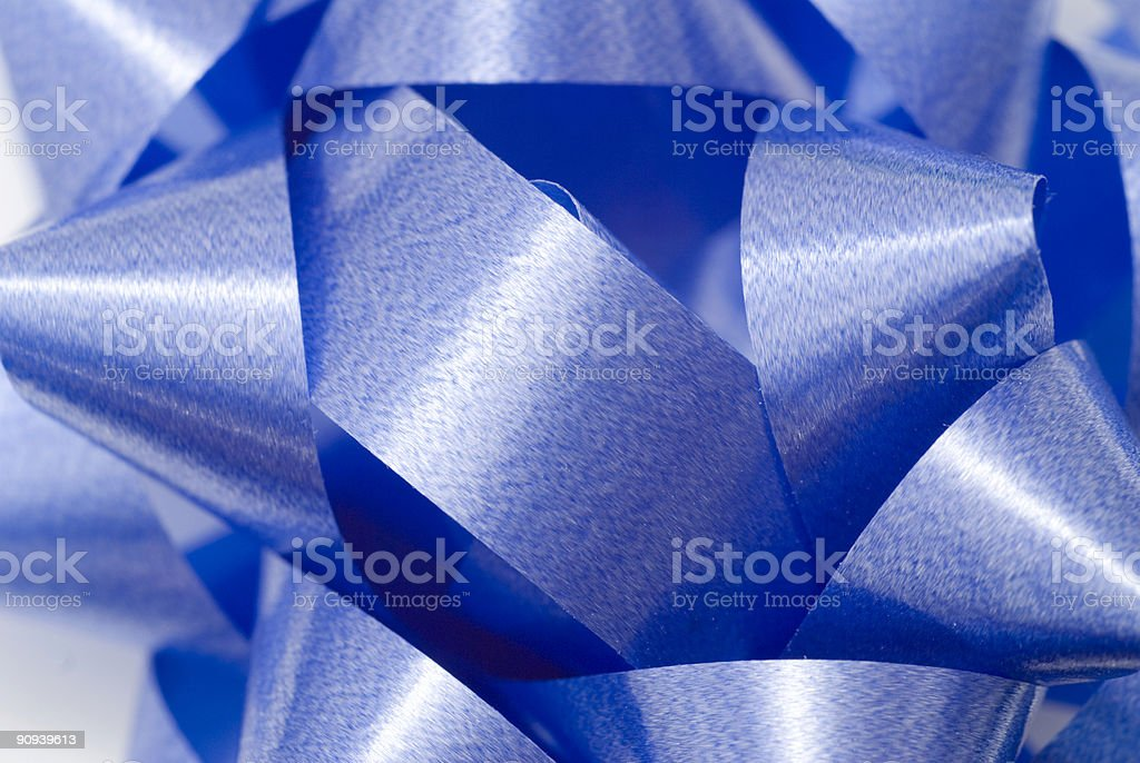 Close up of a Blue Bow royalty-free stock photo