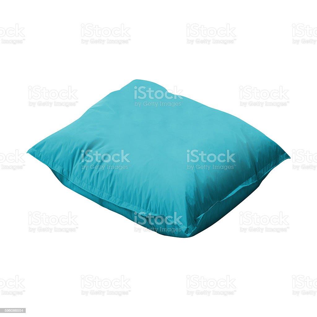 close up of a blue pillow Lizenzfreies stock-foto