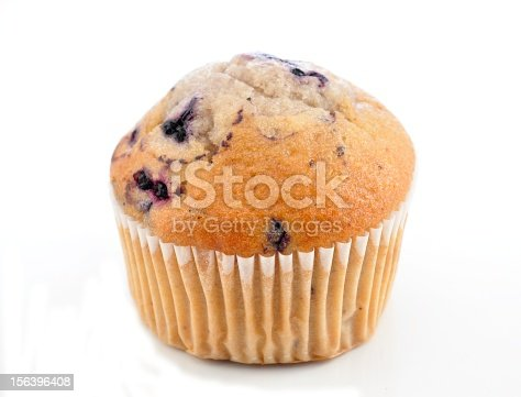 fresh Blueberry Muffin on a white background