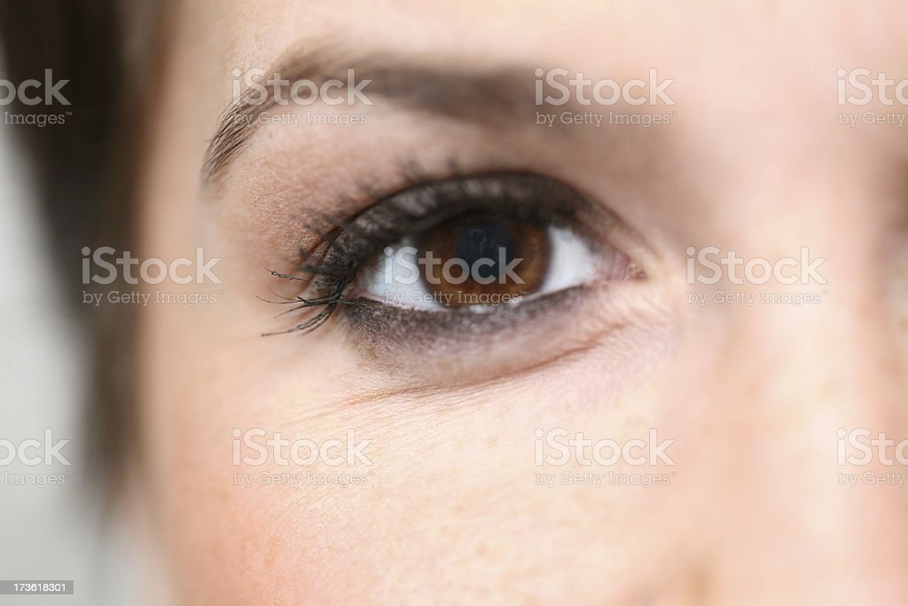 Close Up Of A Brown Eyed Girl royalty-free stock photo