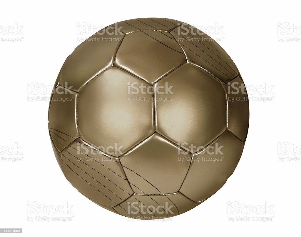 Close up of a brown football on white royalty-free stock photo
