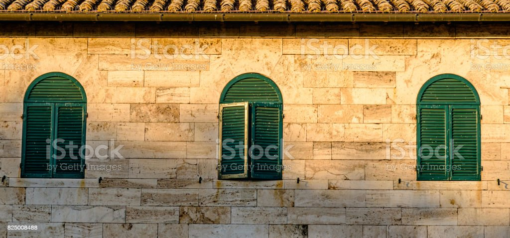 Close up of a building stock photo