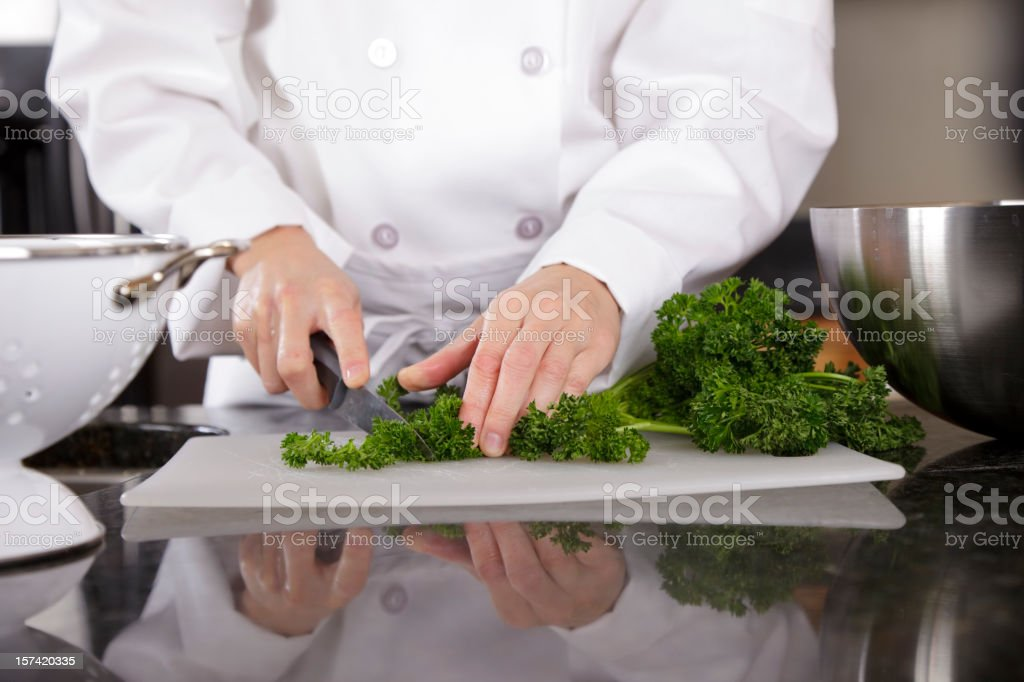 Close Up of a Chef's Hands royalty-free stock photo