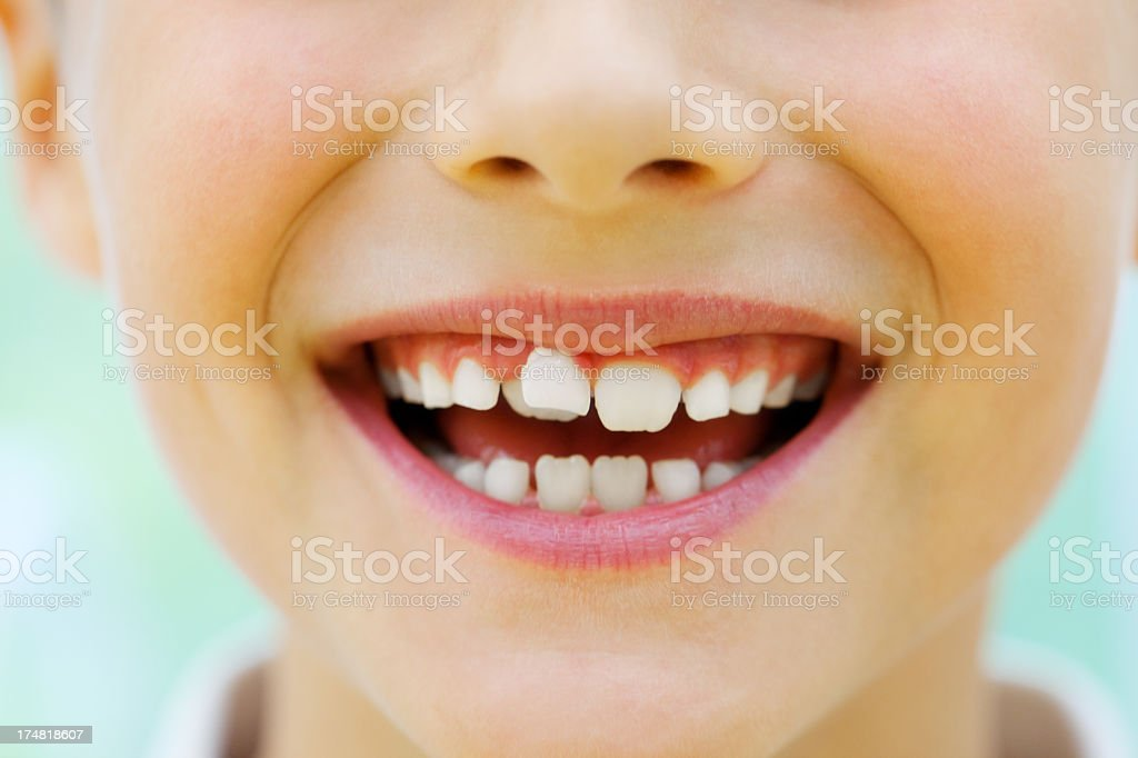 Close up of a childs mouth royalty-free stock photo