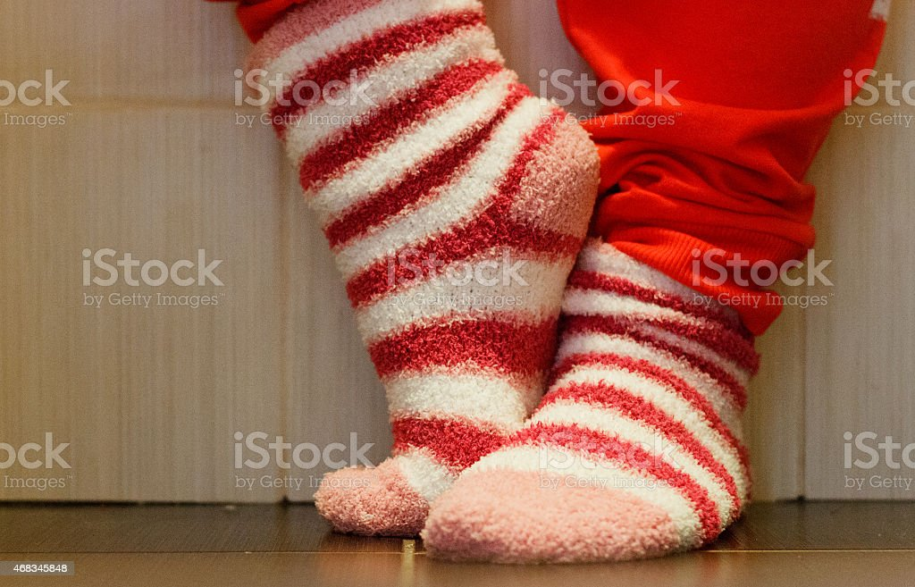 Close up of a colorful socks. royalty-free stock photo