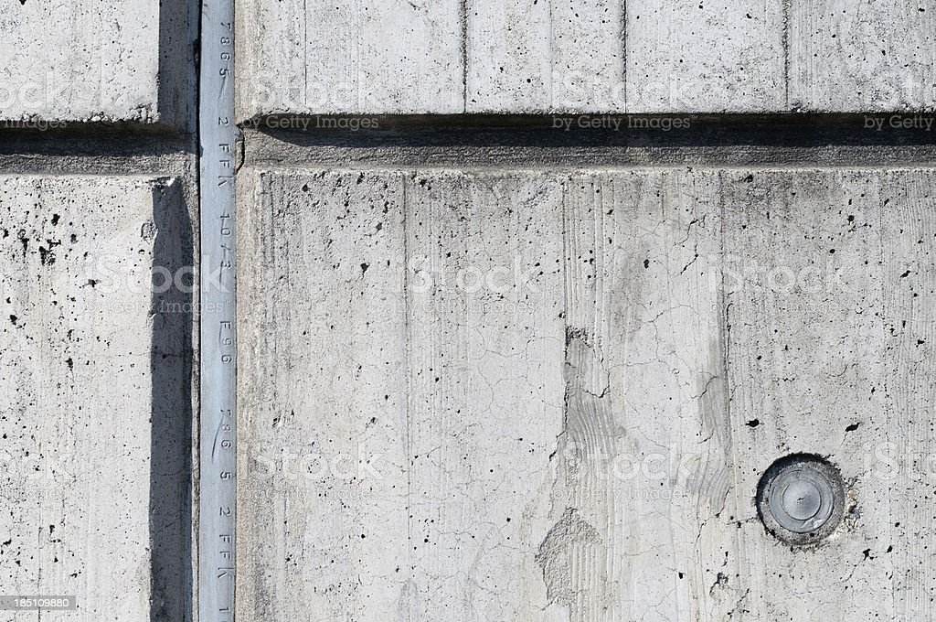 Close Up Of A Concrete Wall With Expansion Joint Stock Photo