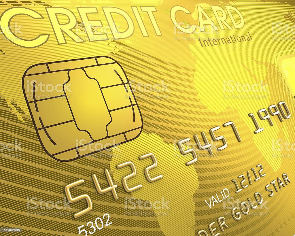 Close up of a Credit Card stock photo