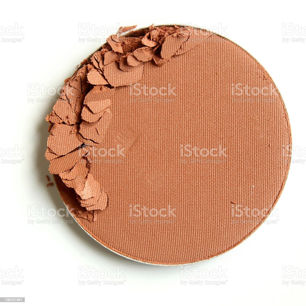 Close up of a crushed cosmetic product royalty-free stock photo