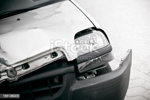 istock close up of a damaged Car from a crash 155136025