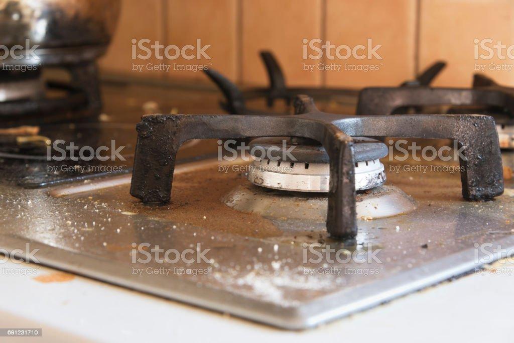Nahaufnahme von einem schmutzigen Brenner – Foto
