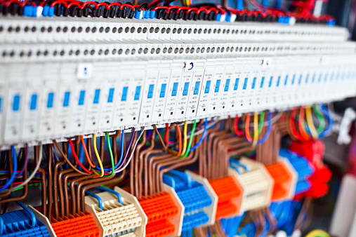 Close Up Of a Electrical Panel
