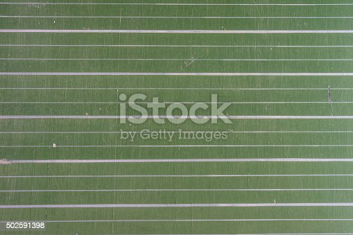 istock Close up of a green, striped chalkboard 502591398