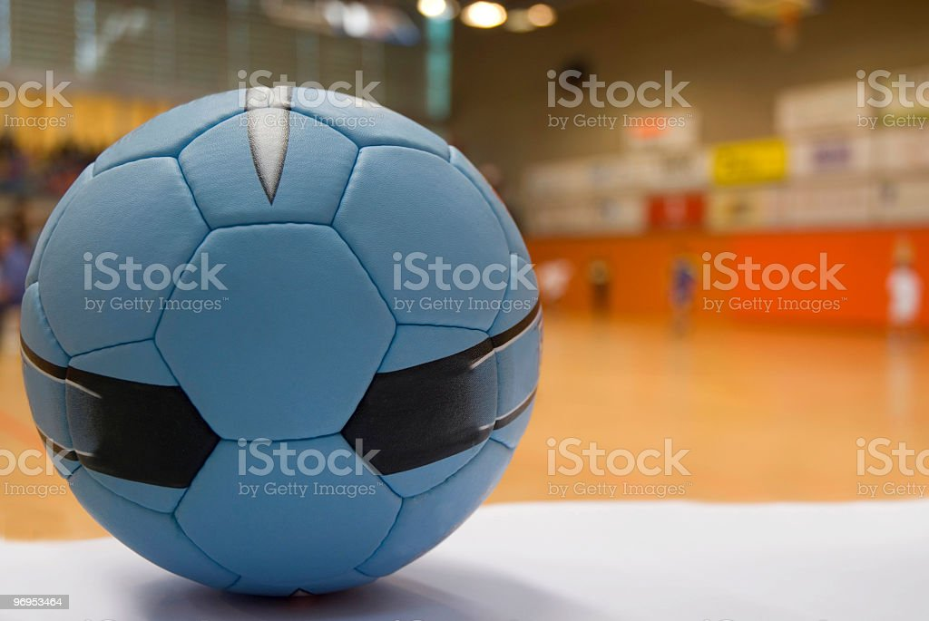 Close up of a handball ball royalty-free stock photo