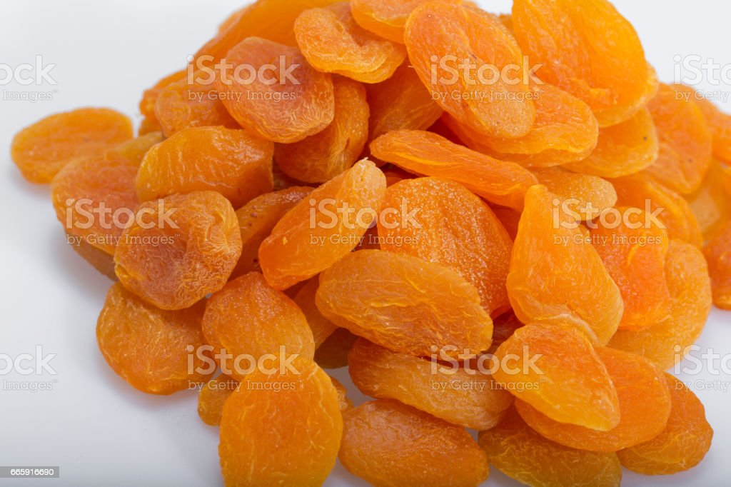 Close up of A heap of dried apricots foto stock royalty-free