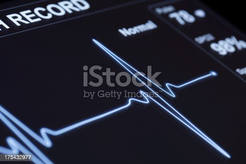 istock A close up of a machine that monitors pulse 175432977