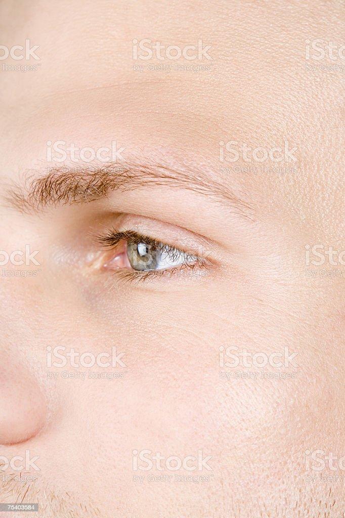 Grande plano de um homem rosto foto de stock royalty-free