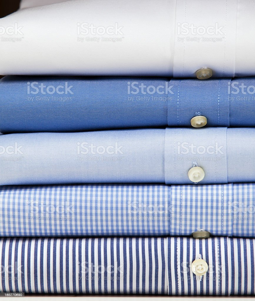 Close up of a mens shirts stock photo
