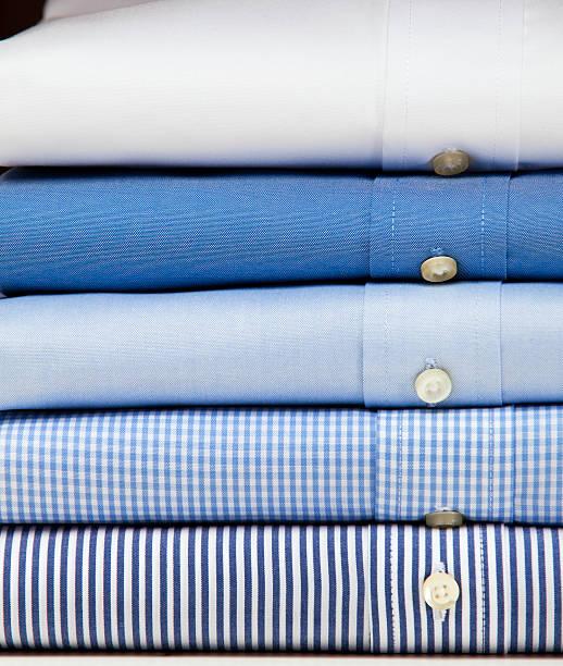Close up of a mens shirts stock photo