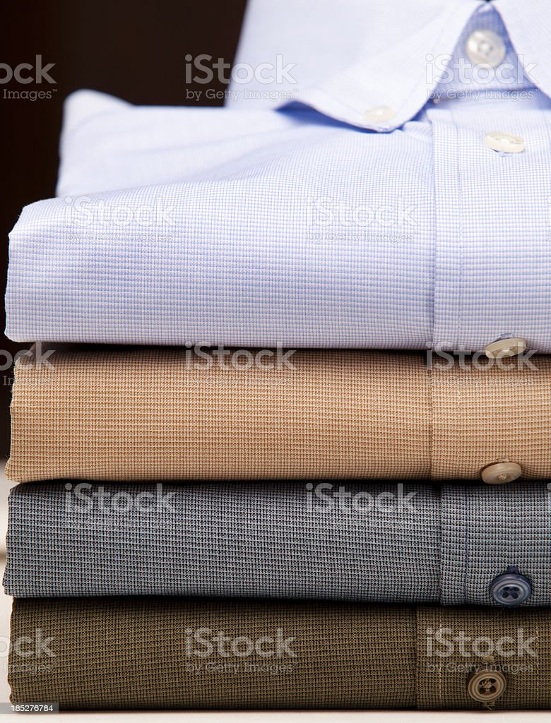 Close up of a mens shirts royalty-free stock photo