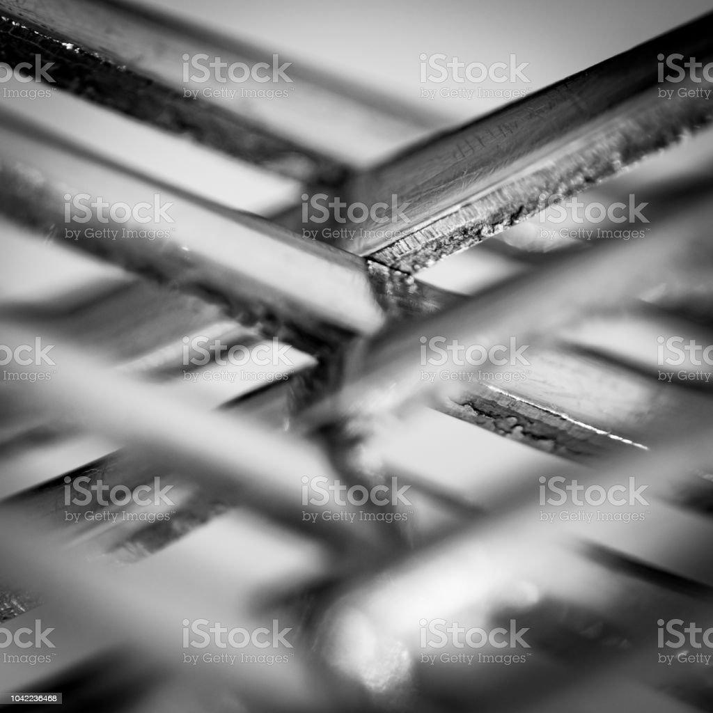 Cerca de un tenedor de metal - foto de stock