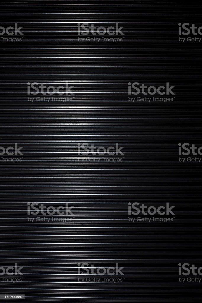 Close Up of a Metal Security Door stock photo