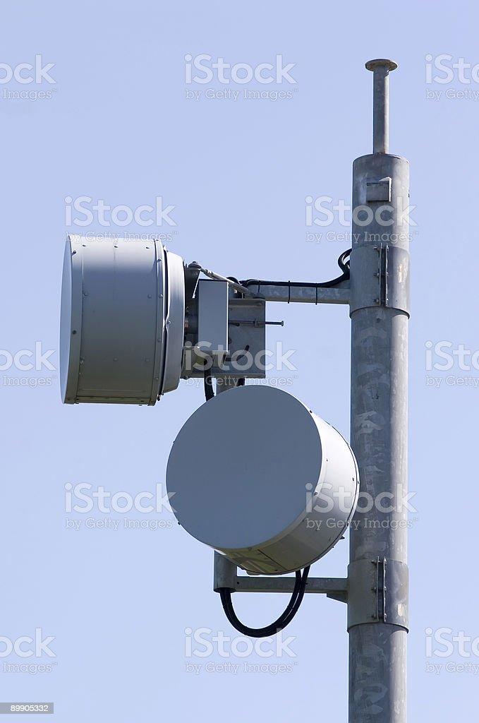 Nahaufnahme von einer Mikrowelle radio link Lizenzfreies stock-foto