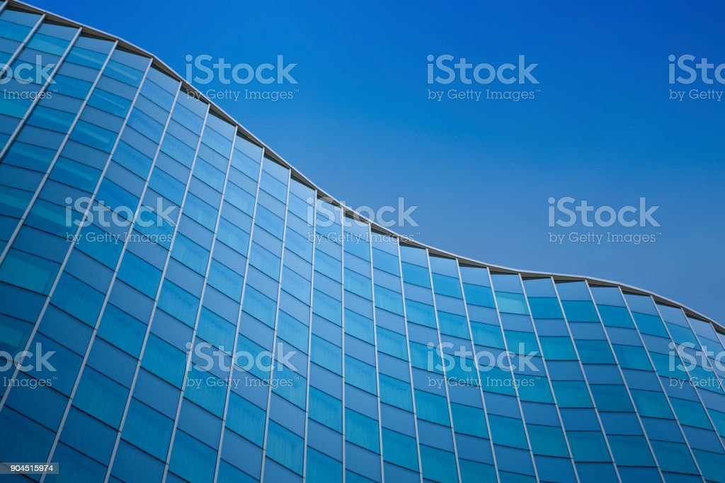 Close up of a modern architecture background - glass building exterior stock photo