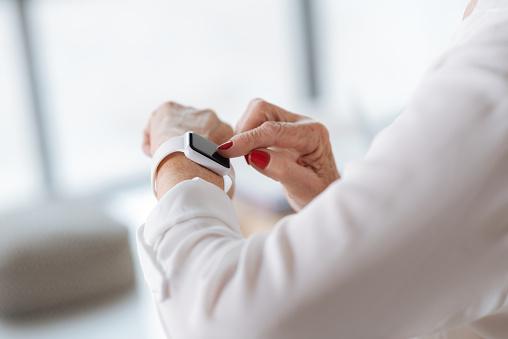 Close up of a modern innovative smartwatch