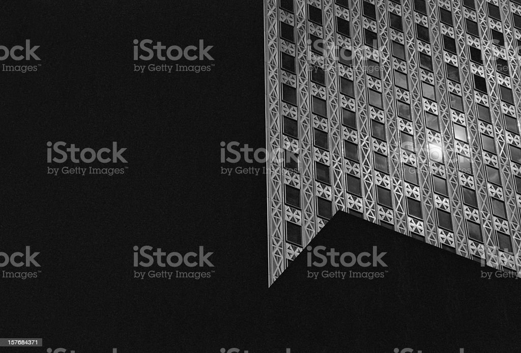 Close Up of A new York City Office Building royalty-free stock photo