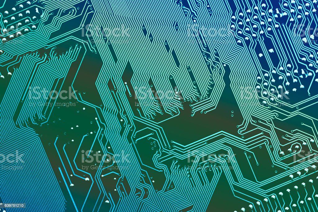Close up of a printed computer circuit board. Vertical stripes. royalty-free stock photo