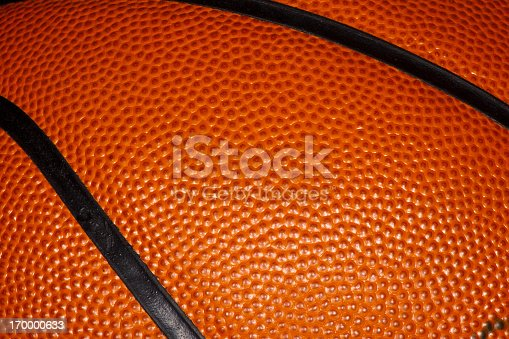istock Close up of a Professional Leather Basketball 170000633