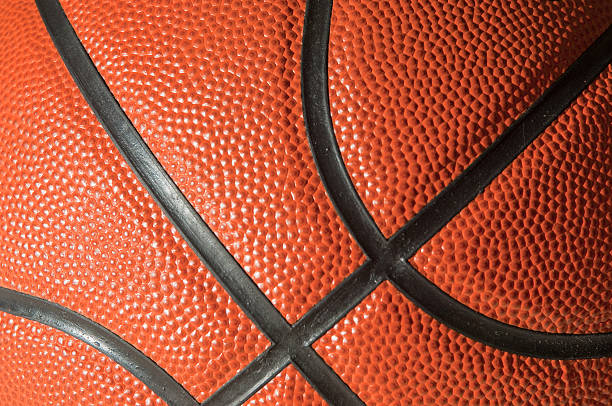 Close up of a Professional Leather Basketball stock photo