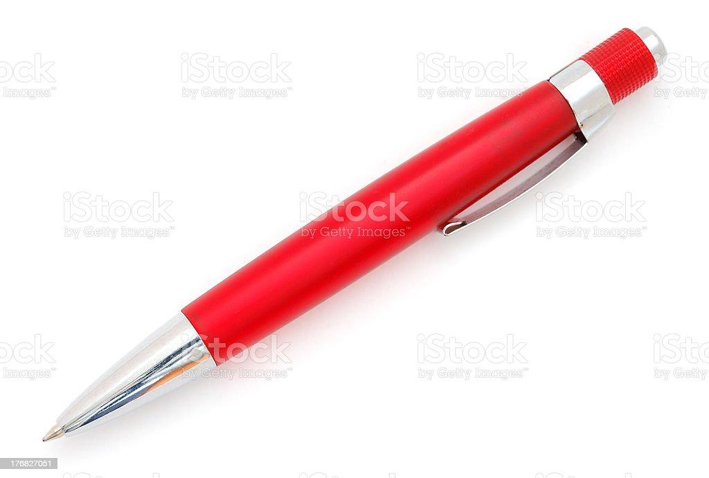 Rojo pluma - foto de stock