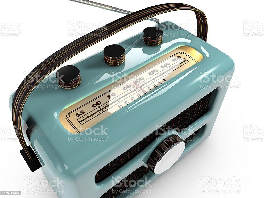 Close up of a retro AM radio tuner. stock photo