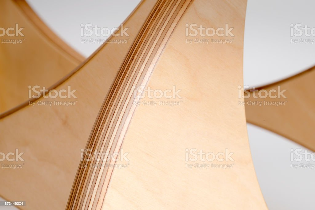 Close Up of a Section of Modern Coffee Table Leg stock photo