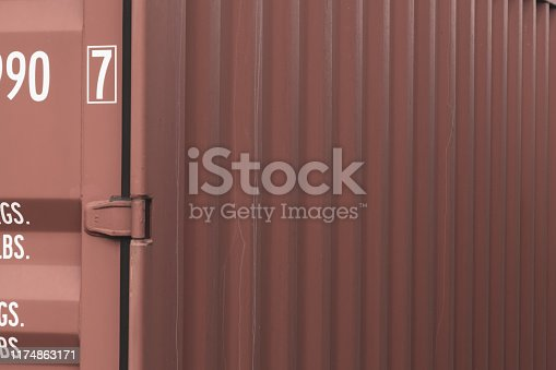 istock Close up of a shipping container 1174863171