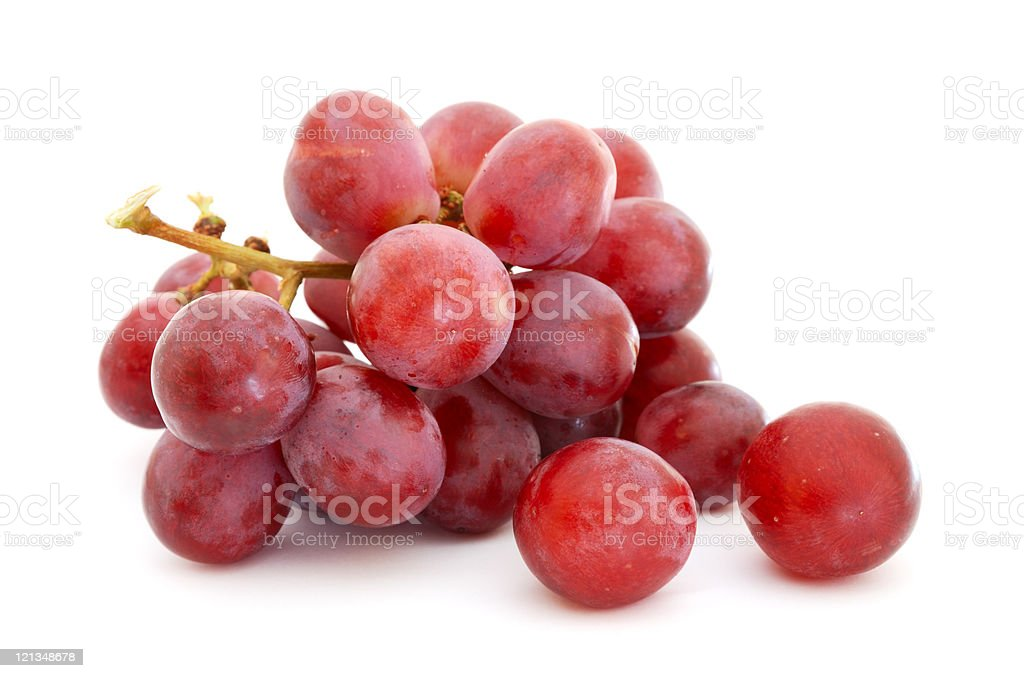 Close up of a small bunch of red grapes stock photo