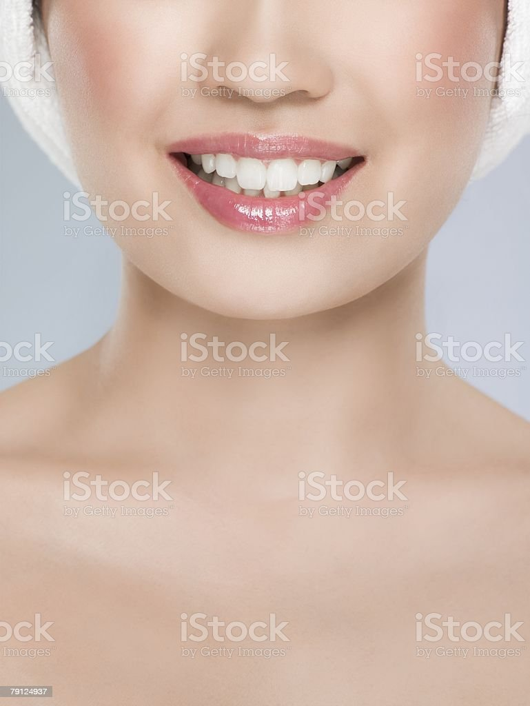 삼각대를 미소 짓는 royalty-free 스톡 사진