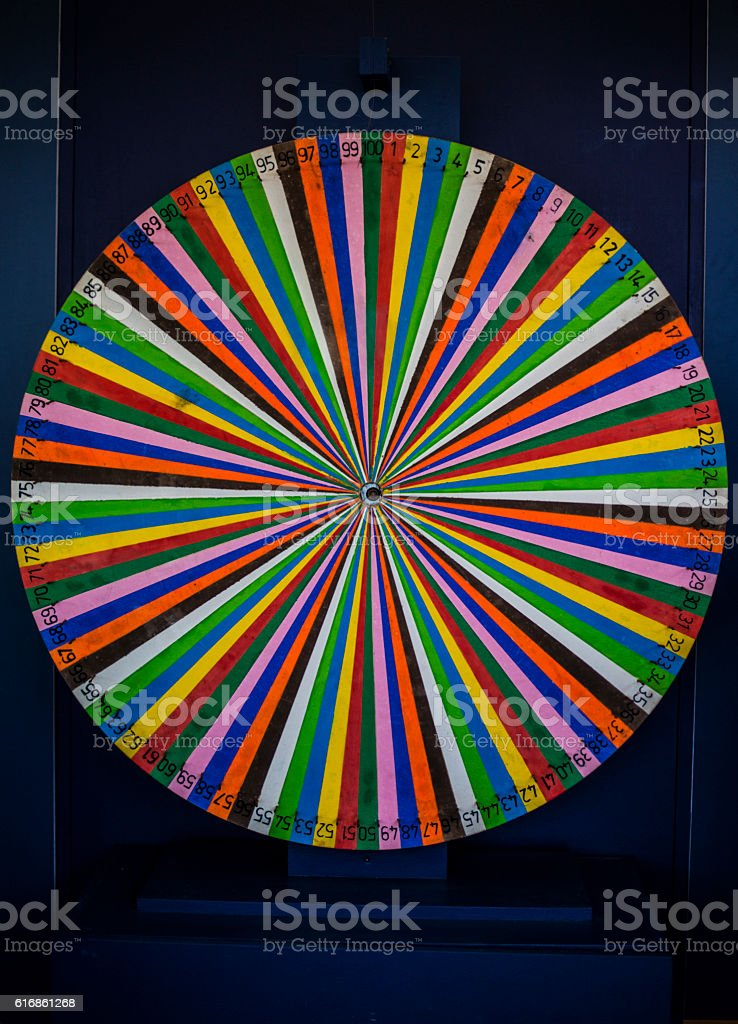 close up of a spinning wheel stock photo