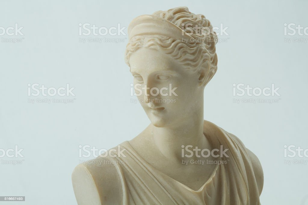 Close Up Of A Statue Of Diana, Roman Goddess stock photo