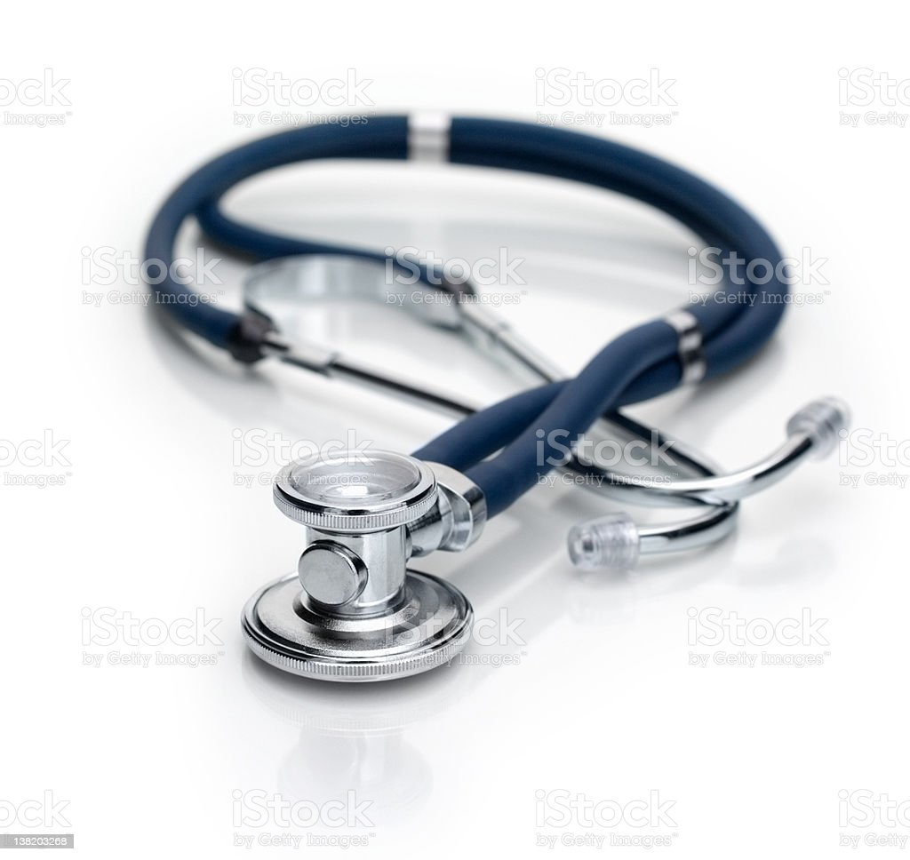 Close up of a stethoscope royalty-free stock photo