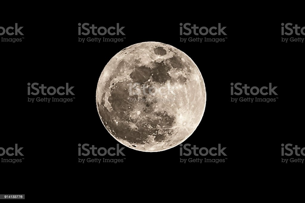 Close up of a super moon on black background,Moon at largest also...